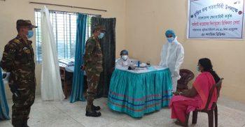 ঝিনাইদহে গর্ভবতী মায়েদের বিনামুল্যে স্বাস্থ্য সেবা প্রদাণ করেছে সেনাবাহিনী