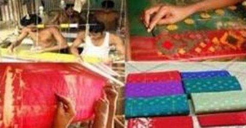 গলাচিপায় তৈরী হচ্ছে ঐতিহ্যবাহী জামদানি শাড়ি